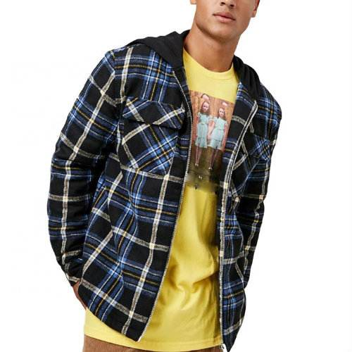 Wholesale Blue Grey Flannel Jacket