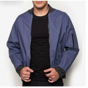 Wholesale Cerulean Blue Varsity Jacket
