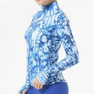 Wholesale Blue and White Fitness Jacket