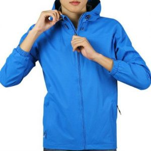 Wholesale Wind Breaker Navy Blue Hooded Jacket