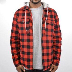 WholesaleBoys Hooded Flannel Shirt Jacket