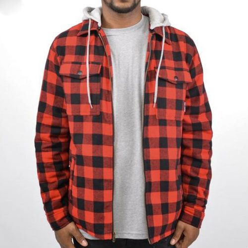 Wholesale Boys Hooded Flannel Shirt Jacket