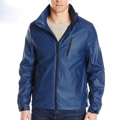 Bright Light Blue Rain Jacket Manufacturer
