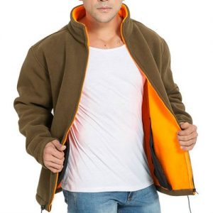 Brown and Yellow Fleece Jackets Manufacturers
