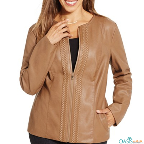 Brown Crafted Womens Jacket