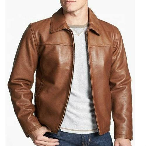 Wholesale Classy Brown Leather Jacket