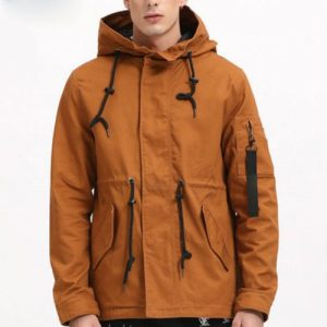 Wholesale Brown Windbreaker Overcoat