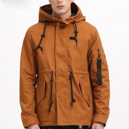 WholesaleBrown Windbreaker Overcoat