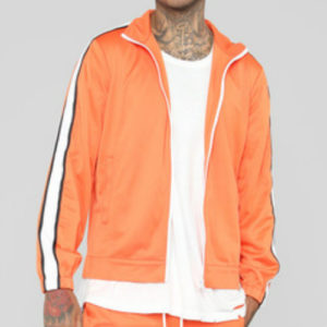 Bubble Gum Orange Running Jackets Manufacturer