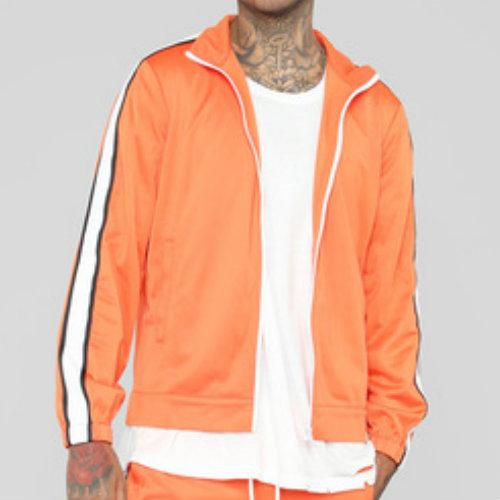 Bubble Gum Orange Running Jackets Manufacturer