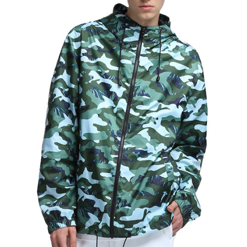 Wholesale Camouflage Print Windbreaker Jacket Manufacturer