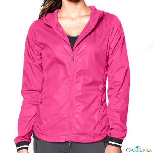 Chocolate Pink Ladies Windbreaker Jacket