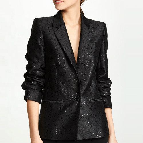 Classic Black Womens Suit Jacket Manufacturer