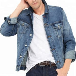 Wholesale Classic Rugged Men's Denim Jacket