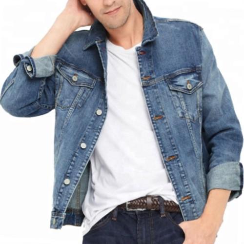 Wholesale Classic Rugged Men's Denim Jacket