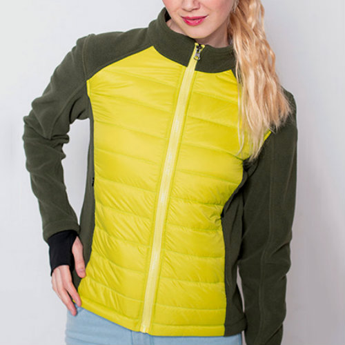 Corn Yellow And Grey Down Jackets Manufacturer