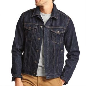 Crisp Dark Blue Denim Jacket Manufacturers