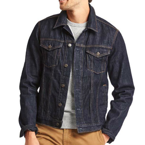 Crisp Dark Blue Denim Jacket Manufacturers