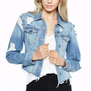 Wholesale Cropped And Ripped Denim Jacket Manufacturers
