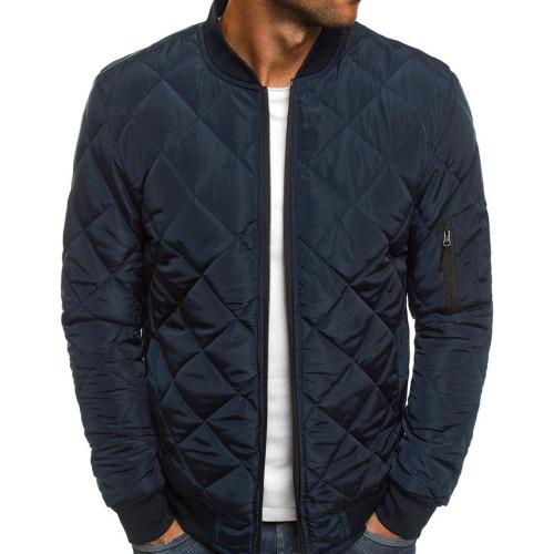 Wholesale Dark Blue Quilted Jacket