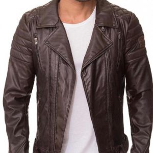 Dark Brown Quilted Jacket
