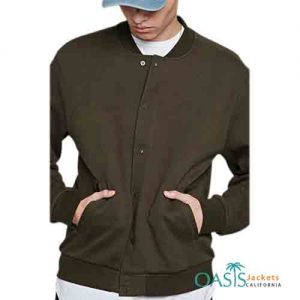 Dark Brown Rustic Mens Bomber Jacket