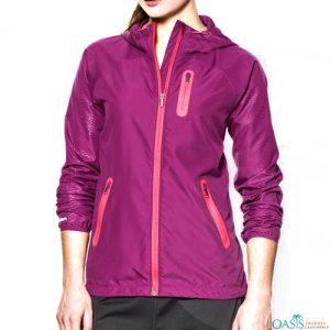 Dark Pink Ladies Windbreaker Overcoat
