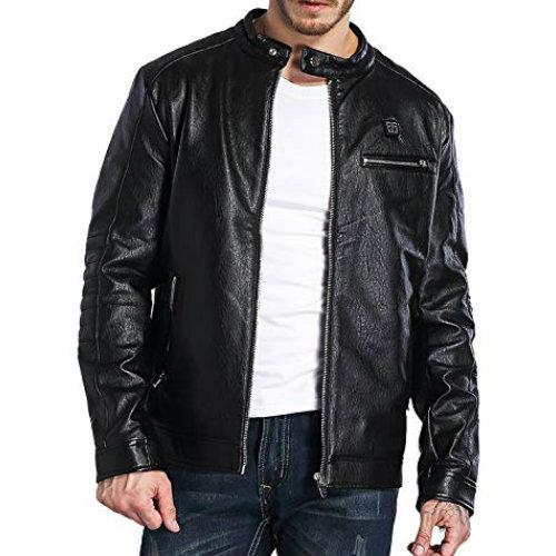 WholesaleEnticing Black Leather Jacket Manufacturer