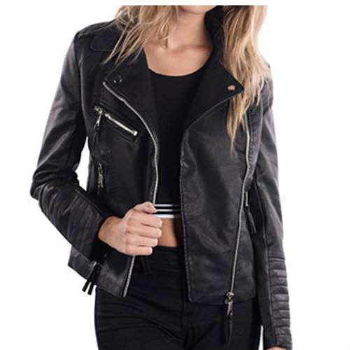 Wholesale Fabulous Black Leather Jacket Manufacturer