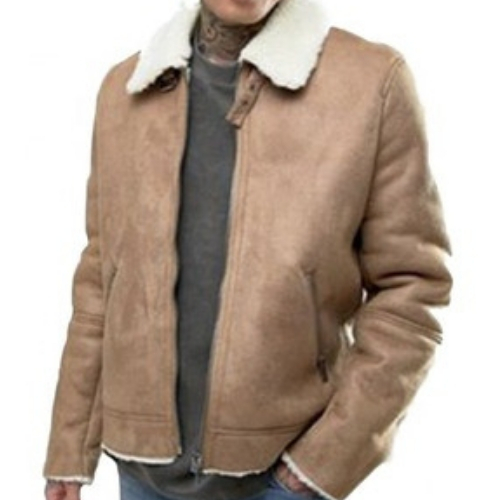 Fetching Brown Leather Jacket Manufacturer