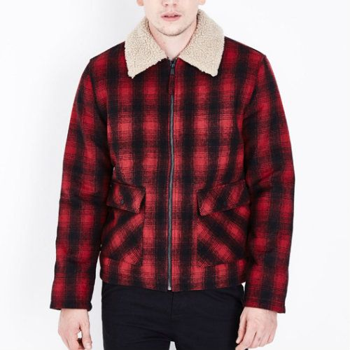 Wholesale Fur Collared Boys Flannel Jacket