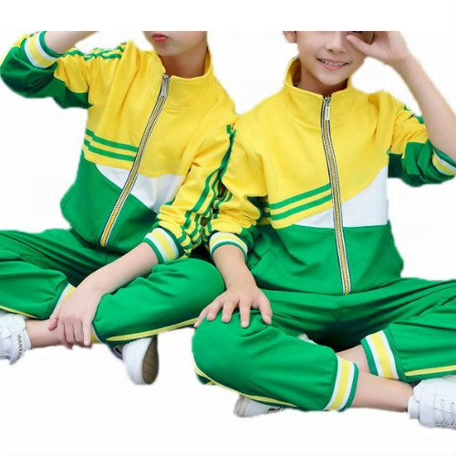 Wholesale Green and Yellow Track Jacket
