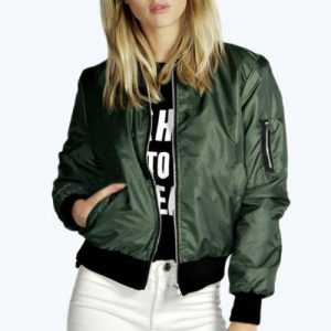 The Polished Green Bomber Jacket