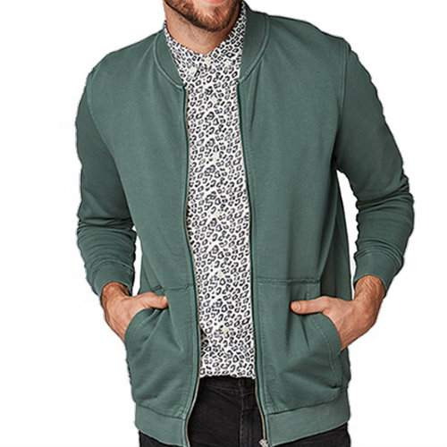 Wholesale Green And Gray Varsity Jacket
