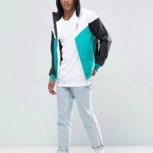 Grey and Sea Green Cute Hooded Varsity Jacket