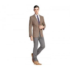 Grey Designer Mens Suit Jacket