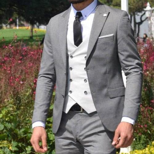 Grey Designer Mens Suit Jacket Manufacturer