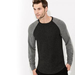 Grey Long Sleeve Crewneck Jacket
