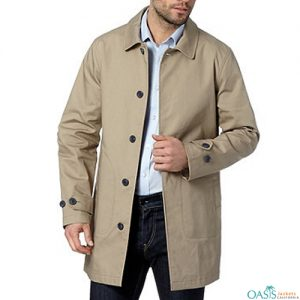 Light Beige Mens Trench Coat