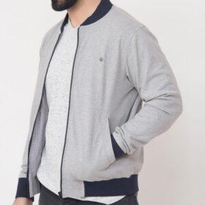 Wholesale Light Grey Men's Bomber Jacket