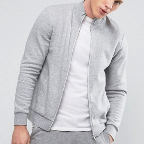 Wholesale Light Grey Track Jacket For Men