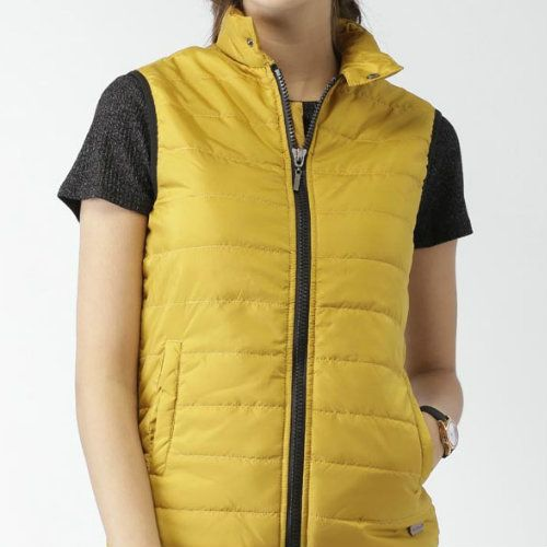 Wholesale Light Yellow Sleeveless Jacket