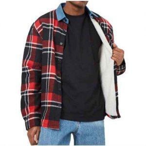 WholesaleContrast Collar Melange Varsity Jackets