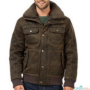 Mens Plus Leather Jacket