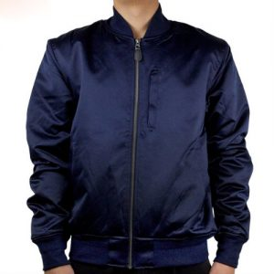 Wholesale Mens Navy Blue Satin Jacket