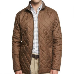 Wholesale Sophisticated Brown Quilted Jacket