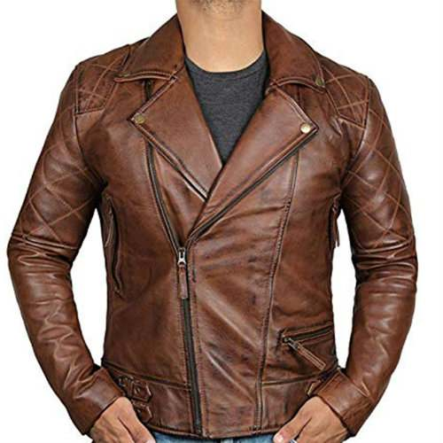 Striking Brown Leather Jacket Manufacturer