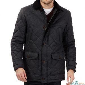 Mens Plus Quilted Jacket