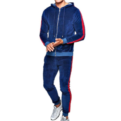Navy Blue Shaded Men's Tracksuit