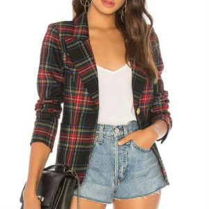Wholesale Red & Black Flannel Jacket